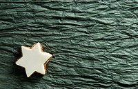 Star shaped iced biscuit