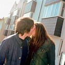 couple snogging on the street