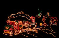 Christmas holiday lights in Alburquerque Biological Park. New Mexico, USA