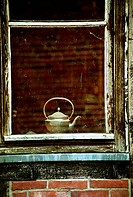 Kettle in window