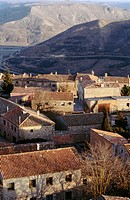 Aerial view of Medinaceli in Soria province. Castilla Le&#243;n, Spain
