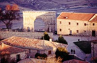 Small town of Medinaceli and roman arch. Soria. Castille-Leon. Spain