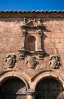 Detail in the 'Ermita del Humilladero' in Medinaceli. Soria. Castilla-Leon, Spain