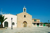 Church in Sant Ferran de les Roques. Formentera, Balearic Islands. Spain