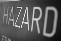 Close-up of a hazard sign (thumbnail)