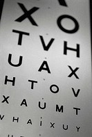 Black and white image of an eye chart (thumbnail)