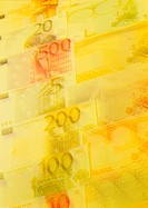 Euro banknotes of differing values (thumbnail)