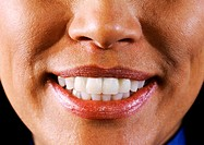 Close up of an african-american/afro-caribbean lady smiling (thumbnail)