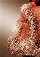 Close up of an african-american/afro-caribbean mans greying beard and moustache (thumbnail)