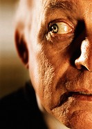 Close up of a caucasian/european elderly male listening (thumbnail)