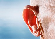 Close up of an elderly caucasian/european males ear (thumbnail)