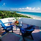 Terrace of room 9 at Maroma in the Yucatan Peninsula. Mexico