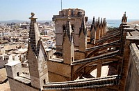 Gothic cathedral. Palma de Mallorca. Majorca, Balearic Islands. Spain