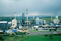 Coalite chemical plant.  Coalite  is  a  smokeless fuel  made  from coal,  which is used for domestic heating.  There are numerous by-products  produc...