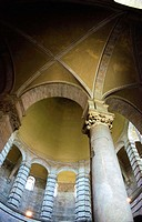 Baptistery, interior detail. Pisa. Italy