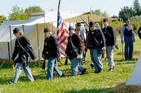 Civil War reenactment: 5th Michigan Infantry
