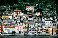View of Brienno from Lake Como. Lombardy, Italy