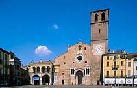 Lodi Cathedral in Piazza della Vittoria. Lombardy, Italy