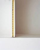 Tape measure on shelf space
