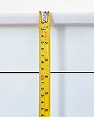 Tape measure being used