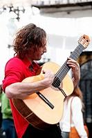 Street musician. Granada. Spain