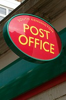 Post office sign in South Kensington. London. England