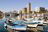 Fishing port. Fuengirola. Málaga province, Costa del Sol. Spain