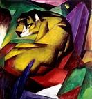 Ü Kunst - Marc, Franz (1880 - 1916),  ´Der Tiger´, 1912, Öl auf Leinwand, Städtische Galerie im Lenbachhaus, München  blauer reiter, expressionismus, ...