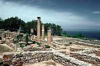 Geo., Italien, Sizilien, Tindari (Tyndaris), griechische Kolonie ab 396 v.Chr., zerstört 836 n.Chr., Insula IV, römische Häuser  Antike, Tindaris, röm...