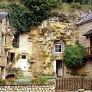Geografie, Frankreich, Villaine-le-Rocher, Höhlenwohnungen, in den Felsen gebaut, in der Nähe von Schloß Azay-le-Rideau, Außenansicht  höhle, felsen, ...