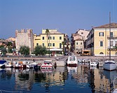 Geografie, Italien, Gardasee, Bardolino,  Hafen,   lago di garda veneto hotel catullo
