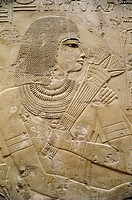 Ägypten hist.- Menschen, vornehmer Mann, Hochrelief, Grab d. Wesir Ramose, Kurna, 18.Dynastie