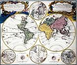 Landkarten hist.- Weltkarten, Karte von J.M.Hase 1746   weltkarte