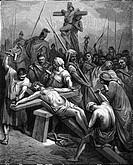 Religion hist., Christentum, Jesus Christus - Kreuz, ´Die Kreuzigung´, Xylographie von Gustave Dore (1832 - 1883)  bibel, neues testament, osterzyklus...