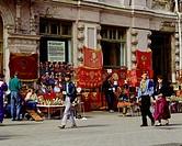 Geografie, Rußland, Moskau, Menschen, fliegende Händler an der Arbatskaja,   straßenverkäufer straßenverkauf verkauf handel souvenir