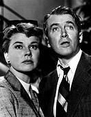 Film, ´Der Mann der zuviel wußte´, USA 1956, Regie: Alfred Hitchcock, Szene mit James Stewart  und Doris Day  paar, erstaunen, entsetzten, furcht, ang...