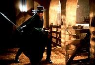 Film, ´Die Maske des Zorro´ (The mask of Zorro), USA 1998, Regie: Martin Campbell, Szene mit: Antonio Banderas,  ganzfigur,ganzkörperaufnahme,freistel...