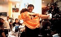 Film ´Uneasy Rider´ (Nationale 7),  F 1999, Regie: Jean-Pierre Sinapi,  Szene mit: Lionel Abelanski und Karine Leparquier und Nips halbfigur, mann ste...