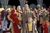 Film, ´Stuart Little 2´, USA 2002, Regie Rob Minkoff, Szene mit Anna oder Ashley Hoelck, Geena Davis, Hugh Laurie & Jonathan Lipnicki  komödie, famili...