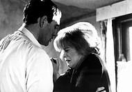 Film, ´Lockender Lorbeer´ UK 1963 Regie Lindsay Anderson, Szene mit  Richard Harris und Rachel Roberts   Brustbild, Profilbild, weinen, halten, hält, ...