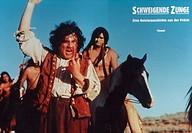 C Film, ´Schweigende Zunge´ (Silent Tongue), USA / F 1994, Regie: Sam Shepard, Szene mit Alan Bates, ORIGINAL AUSHANGBILD verletzt, verletzung im gesi...