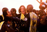 Film, ´Biker Boyz´, USA 2003, Regie Reggie  Rock Bythewood, Szene mit Dion Basco, Dante Basco, Brendan Fehr, Derek Luke & NIPs,  actionfilm, aktionfil...
