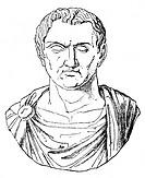 Antonius, Marcus  um 82 - 30 v.Chr.,, Rome. Politiker + Feldherr, Porträt, Xylografie nach antiker Büste  consul 44, magister equitum 48/47, Volkstrib...