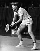 Borg, Björn, * 6.6.1956, schwed. Tennisspieler  bei einem Tennisturnier, 1976    Sport, Tennis, sportler, Erwartung, Grundlinie, Spiel, Match