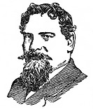 Fibich, Zdenek (Zdenko ) 21.12.1850 - 15.10.1900 Musiker, Komponist Zeichnung 19. Jh., Künstler unbekannt Portrait