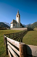 Church. Dolomite region. Northern Italy