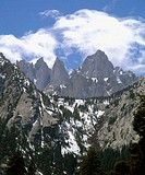 East face of Mount Whitney. Eastern Sierra Nevada. Inyo County. California, USA