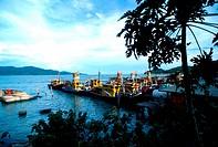 Fishing boats at Pulau Pangkor, Perak, Malaysia