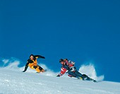 action, Carving, couple, Dynamic, ski, skiing, sky, sports, two, winter, winter sports, Switzerland, Europe, Europe