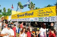 Visitors and food vendors. Coconut Grove Arts Festival. Florida. USA